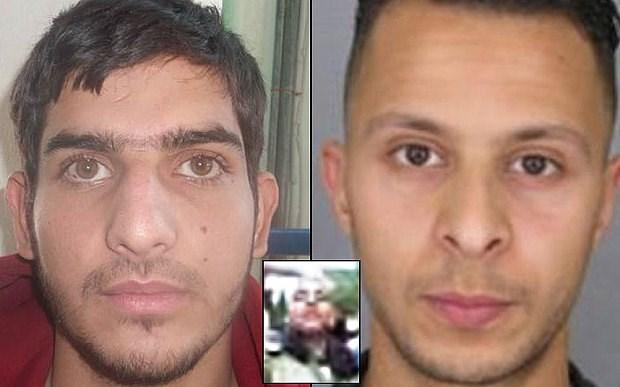 Salah Abdelsalam (phải) Ahmad Almohammad (trái) và Omar Mustefai (ảnh nhỏ).