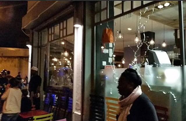 Hình ảnh được cho là tại nhà hàng xảy ra 1 vụ xả súng.