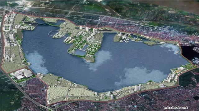 Tổng thể quy hoạch khu ven Hồ Tây