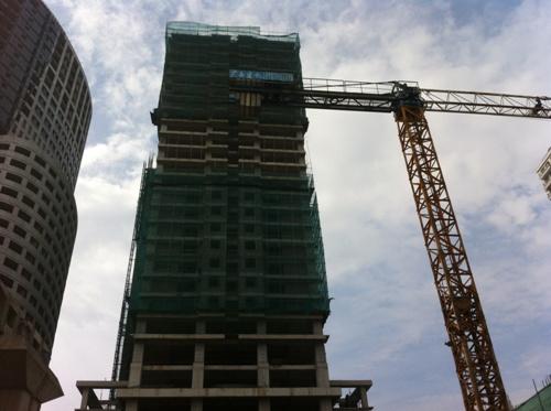 Khách hàng mua căn hộ tại đây đang từng ngày ngóng dự án hoàn thiện