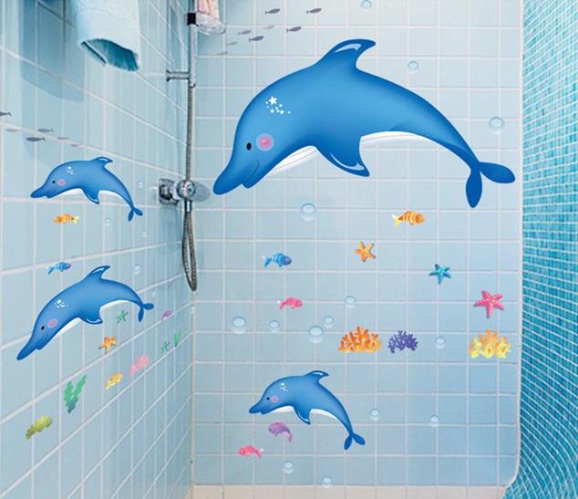 Mang cả đại dương xanh vào trong phòng tắm.