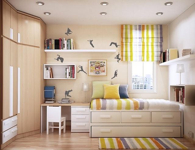 Giường với thiết kế lạ và bắt mắt vừa là nơi ngủ vừa là nơi trữ đồ dưới gầm giường.