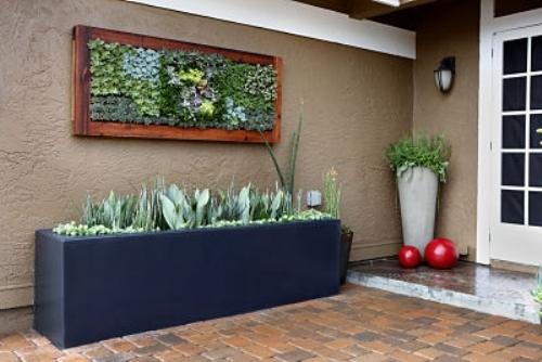 Kiểu máng trồng cây thế này sẽ cho các loại rau có nhiều đất để phát triển tốt.