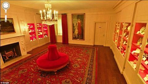 Phòng trưng bày những đồ lưu niệm quý giá của Nhà Trắng.
