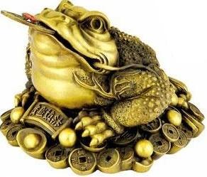 Cóc 3 chân biểu tượng của sự may mắn về tiền bạc.