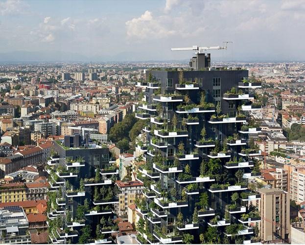 """Thiết kế của dự án có nhiều nét giống với tòa nhà """"Bosco verticale"""" của kiến trúc sư Stefano Boeri tại Milan."""