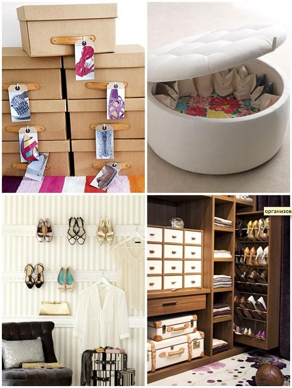 Những đôi giày của bạn cũng có thể cất kín bên trong những chiếc hộp theo từng cặp. Để đảm bảo thuận tiện cho việc tìm kiếm, tốt nhất từng hộp giày nên được gắn nhãn tương ứng. Bạn cũng có thể treo chúng trên những giá treo hoặc cất trong tủ dạng ngăn kéo giúp bạn thuận tiện mỗi khi đi ra ngoài.