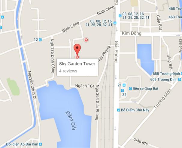 Công trình nằm trong ngõ 115 phố Định Công