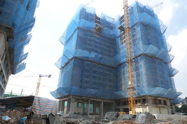 Tòa Ruby 1 đang xây dựng tầng 20
