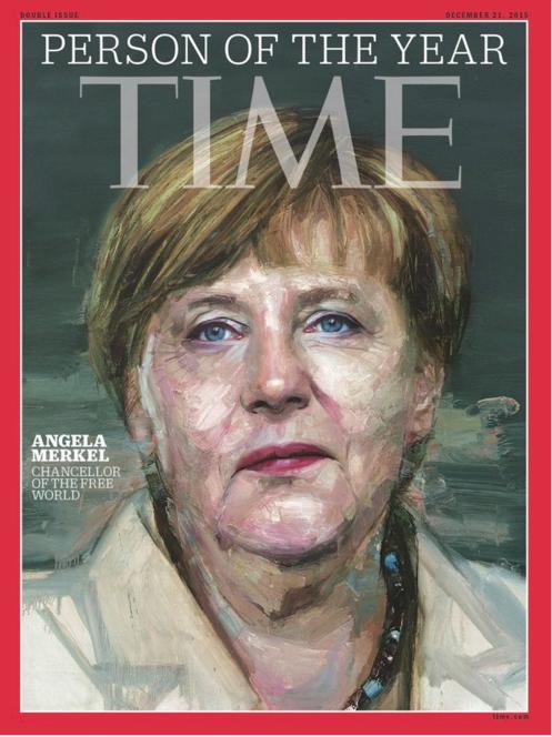 Trên tài khoản Twitter của tạp chí Time đăng hình Thủ tướng Merkel với tựa đề Angela Merkel - Thủ tướng của thế giới tự do