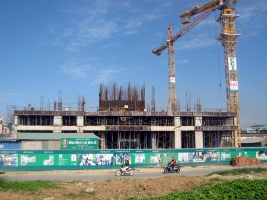 Dự án Khu dân cư của BCI đang được thi công phần cao tầng.