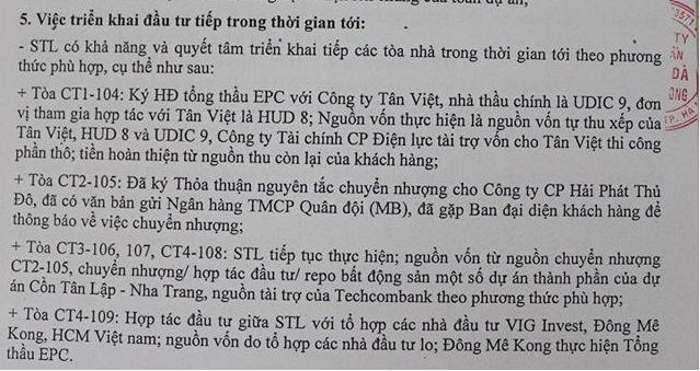 Văn bản kết quả hội nghị khách hàng Sông Đà Thăng Long công bố
