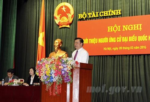 Bộ trưởng Đinh Tiến Dũng phát biểu tại Hội nghị