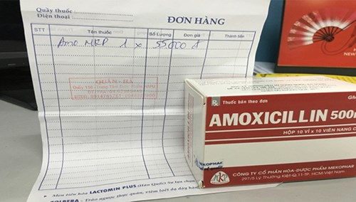 Thuốc kháng sinh mua tại chợ khônghóa đơn.