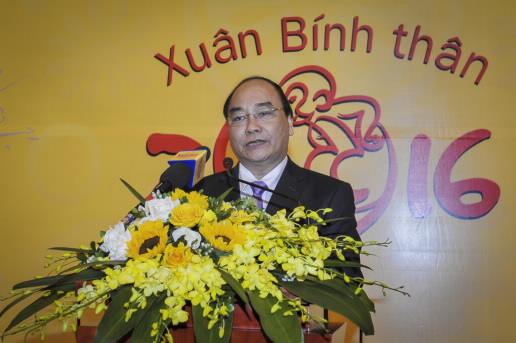 Phó Thủ tướng Nguyễn Xuân Phúc thăm và chúc Tết ngành ngân hàng