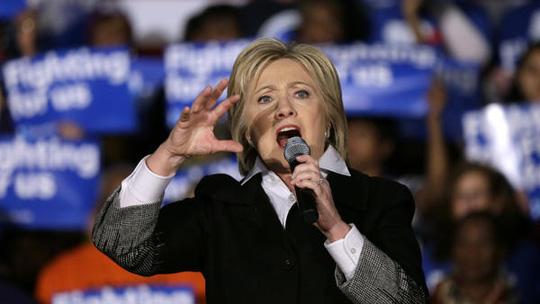 Cựu Ngoại trưởng Mỹ Hillary Clinton đã giành chiến thắng trong cuộc bầu cử sơ bộ tại bang Mississippi. Ảnh: AP