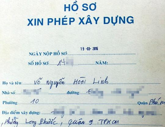 Hồ sơ xin giấy phép xây dựng Nhà thờ Tổ nghiệp của Hoài Linh