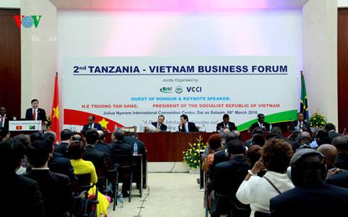 Chủ tịch nước Trương Tấn Sang dự Diễn đàn doanh nghiệp Tanzania - Việt Nam.