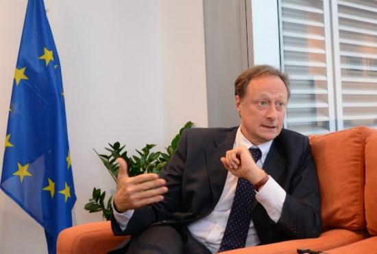 Tôi có một tham vọng, đó là sau khi kết thúc nhiệm kỳ bốn năm, EU sẽ trở thành nhà đầu tư số một tại Việt Nam. Ảnh: Việt Khôi
