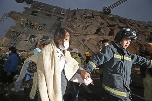 Có ít nhất 4 nạn nhân người Việt Nam trong vụ động đất tại Đài Loan (Trung Quốc). (Ảnh: AP).
