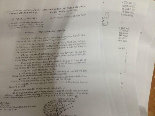Rất nhiều văn bản đã được ban hành để chỉ đạo vụ cổ phần hóa tại Hacinco