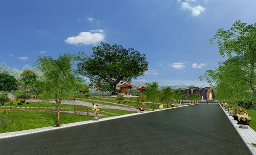 Phối cảnh dự án nghĩa trang Thiên An Viên có tổng vốn đầu tư gần 1.500 tỷ đồng