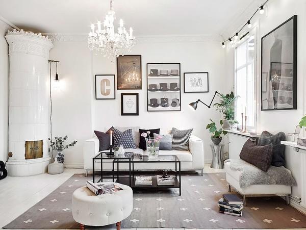 Phòng khách căn hộ với thiết kế thanh lịch, hiện đại và sang trọng.