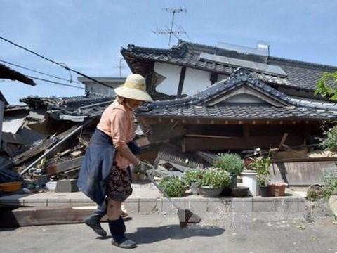 Trận động đất đêm ngày 14/4 đã gây thiệt hại nặng nề cho khu vực Kyushu, Nhật Bản
