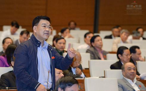 Đại biểu Nguyễn Ngọc Bảo (Đoàn ĐBQH tỉnh Vĩnh Phúc) nhận xét việc áp thuế tự vệ mặt hàng thép lúc này là không hợp lý.