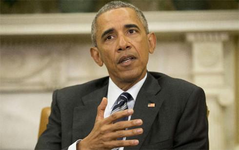 Tổng thống Mỹ Obama phát biểu tại Phòng Bầu Dục về vụ xả súng (Ảnh: AP).