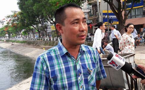 Ông Trịnh Ngọc Sơn, Giám đốc Xí nghiệp thoát nước số 4