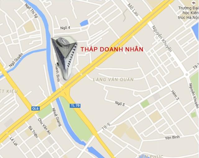 Vị trí dự án trên đường Thanh Bình, phường Mỗ Lao, quận Hà Đông