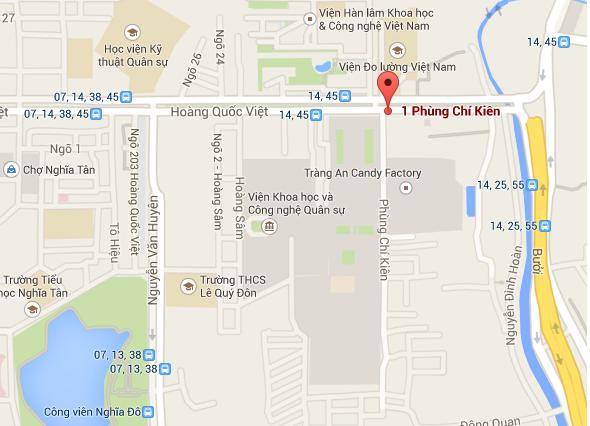 Dự án tọa lạc mặt đường Phùng Chí Kiên, trung tâm quận Cầu Giấy