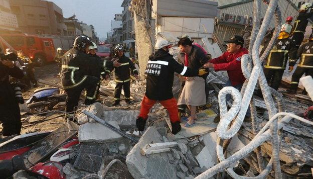 Tâm chấn trận động đất nằm cách thành phố Đài Nam khoảng 48km về phía đông - đông nam - Ảnh: AFP