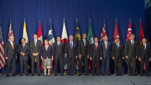 12 nước tham gia TPP gồm có: Mỹ, Nhật Bản, Việt Nam, Singapore, Úc, Canada, Malaysia, Mexico, Brunei, Chile, Peru. (Ảnh: AFP)