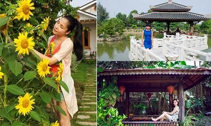 Những khu vườn rộng thênh thang đáng mơ ước của sao Việt