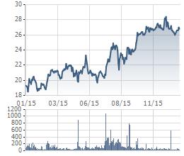 Biến động giá cổ phiếu NT2 trong 1 năm