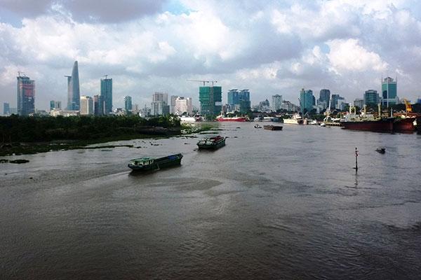 Một khúc sông Sài Gòn, nơi tuyến buýt đường thủy sẽ đi qua