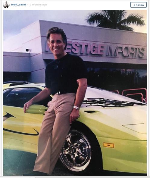 Hình ảnh cha của Brett trước khi ông qua đời