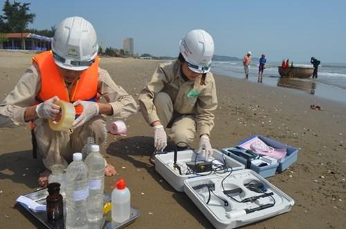 41 mẫu nước biển ven bờ thực hiện quan trắc được lấy tại các bãi biển: Quỳnh Phương (TX Hoàng Mai), Quỳnh Nghĩa (Quỳnh Lưu), Diễn Thành (Diễn Châu), Cửa Lò, Cửa Hội (Thị xã Cửa Lò).