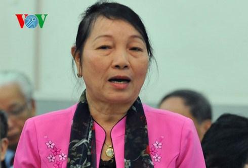 Bà Hà Thị Liên, nguyên Phó Chủ tịch Ủy ban TW MTTQ Việt Nam