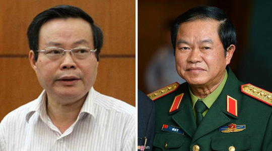 Hai ứng viên Phó chủ tịch QH Phùng Quốc Hiển (trái) và Đỗ Bá Tỵ (phải)