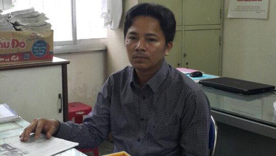 Kiệt khi bị bắt tại cơ quan điều tra - Ảnh: G.Minh