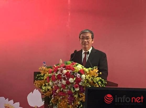 Ông Đinh Thế Huynh, Ủy viên Bộ Chính trị, Bí thư Trung ương Đảng, Trưởng Ban Tuyên giáo Trung ương phát biểu tại buổi họp báo.