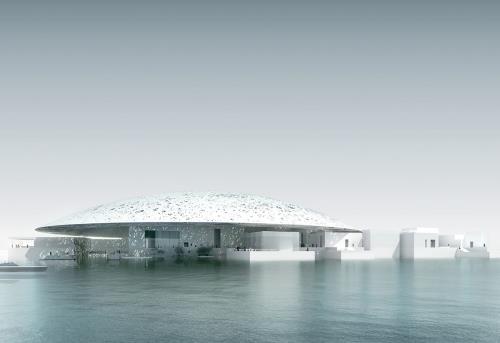 Bảo tàng nghệ thuật Louvre Abu Dhabi ở Các Tiểu vương quốc Ả Rập thống nhất (UAE). Ảnh: louvreabudhabi