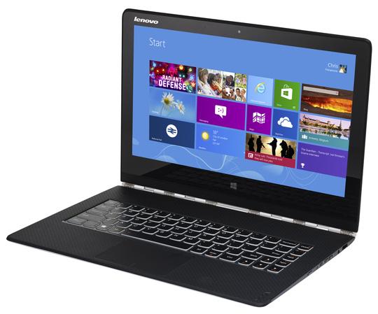Lenovo Yoga 3 cài sẵn phần mềm LSE đang bán tại Việt Nam Ảnh: Chánh Trung
