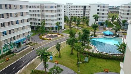 Khu chung cư này có không gian sống thoáng đãng, không gian xanh, bể bơi nhưng giá thuê chỉ khoảng từ 1,35 triệu đồng mỗi tháng