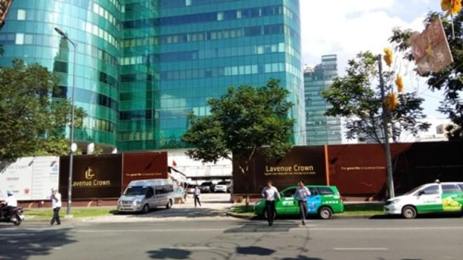 Khu đất xây dựng cao ốc này nằm ngay cạnh tòa Diamond Plaza