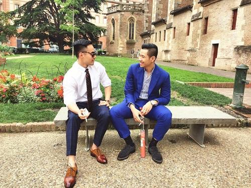Denis Do và em trai Đỗ Hoàng Việt ở Pháp