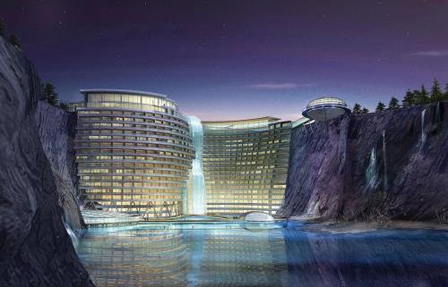 Khách sạn ngầm Shimao Intercontinental, Thượng Hải, Trung Quốc. Ảnh: idesignarch